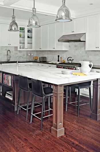 Absolutely amazing!  Long island for a long kitchen-seating for 4 at the end  palmerston design 5 Obsessions: Kitchen Islands