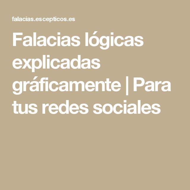 Falacias lógicas explicadas gráficamente | Para tus redes sociales