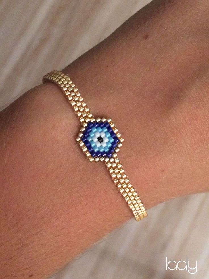 "Bracelet ""Œil Turc"" or                                                                                                                                                                                 Plus"