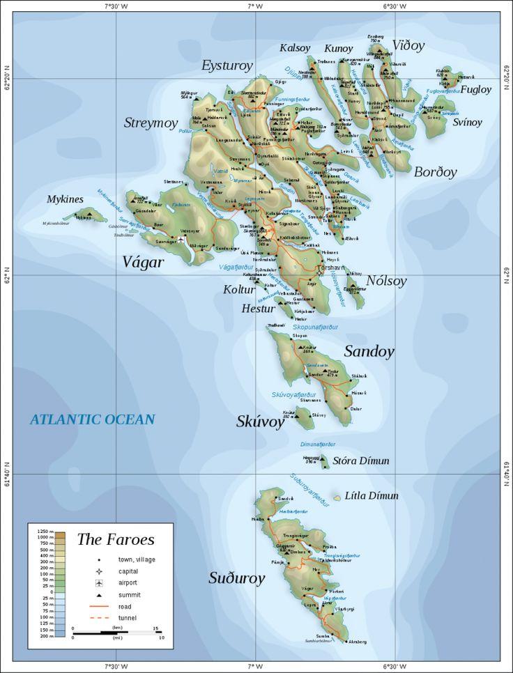 færøerne map - Google-søgning