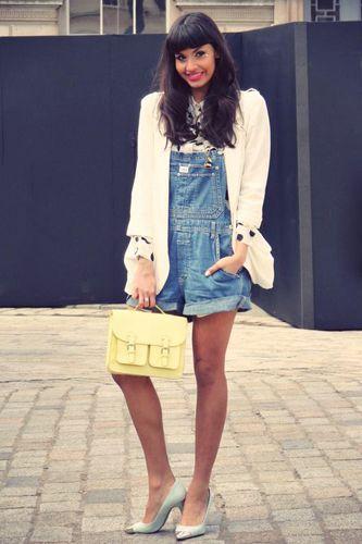 cuteDenim Denim, Denim Dungares, Style Inspiration, Wear Overalls, Street Style, Shorts, Style Shared, Denim Overalls, Fashion Slave