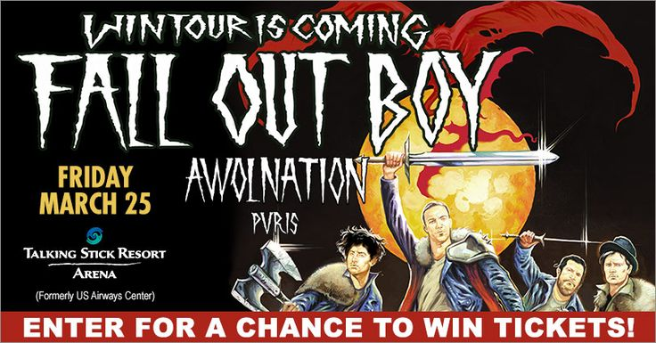 Check out this Fall Out Boy Live Nation Phoenix Ticket Giveaway