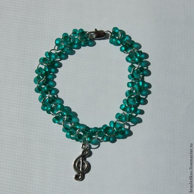 Браслет или ожерелье из соединительных колечек и бисера своими руками - Ярмарка Мастеров - ручная работа, handmade