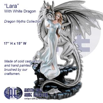 """Lara"" With White Dragon Dragon Myths Collection"