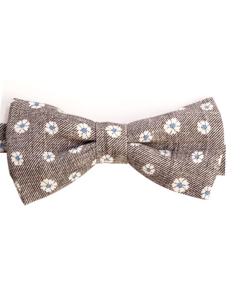 Cravate Auto Cravate Arc - Solide Armure Coton Denim Bleu Avec Cran Étoiles Blanches TH7MYFI