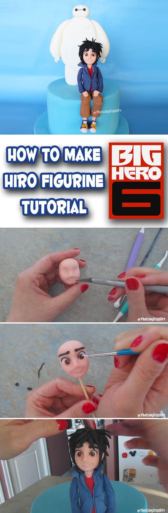 How to make Human Figurine Tutorial Hiro from Big Hero 6 Disney DIY cake topper Gumpaste/Fondant www.thecakinggirl.ca
