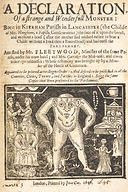 A declaration of a Strange and Wonderful Monster, 1646