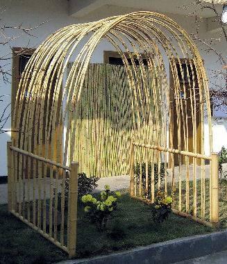 39 best Bamboo Pergolas & Arbors images on Pinterest   Bamboo ...