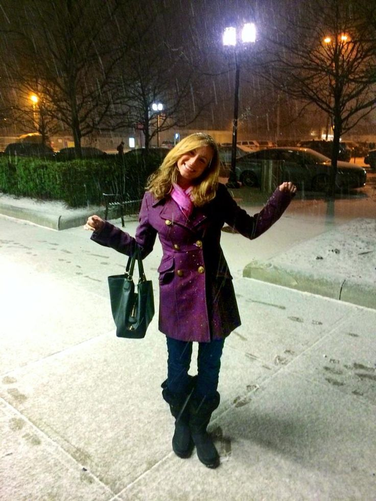 """It's my first time breaking out my new snow boots! It's snowing in Boston! What's it doing where you live? #wcvb"""