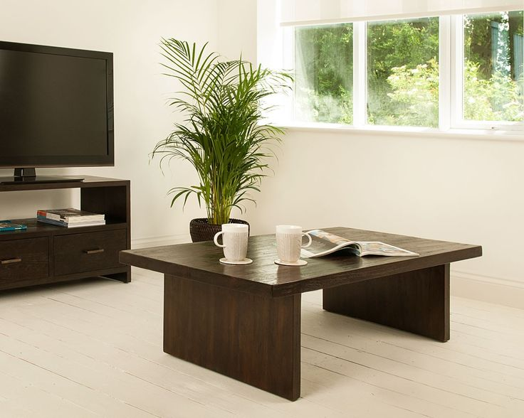Henry Dark Teak Coffee Table   A Chunky And Charming Dark Wood Coffee Table  That Will