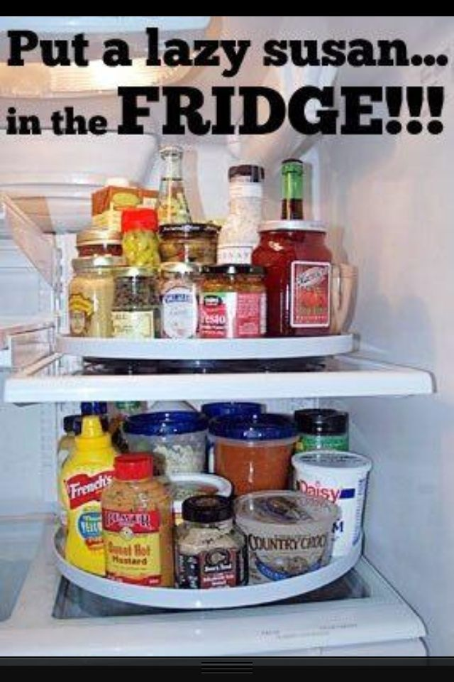 I'm not exaggerating when I say this has changed my life. Salad dressings are found before they go bad, half-sandwiches are seen and eaten, and all those weird sauces used once a year can be easily found. I am a Lazy Susan Convert.