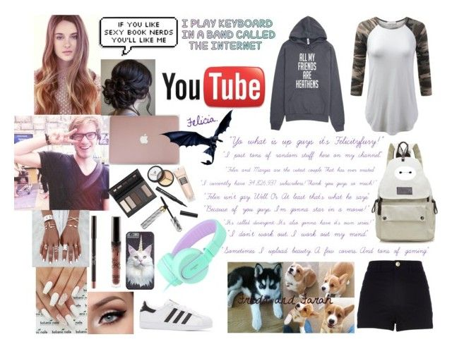 """""""Felicity Astrid Kjelberg. Pewdiepies sister. YouTube oc."""" by daniellaqueen-118 on Polyvore featuring Borghese, River Island, adidas Originals and Corgi"""