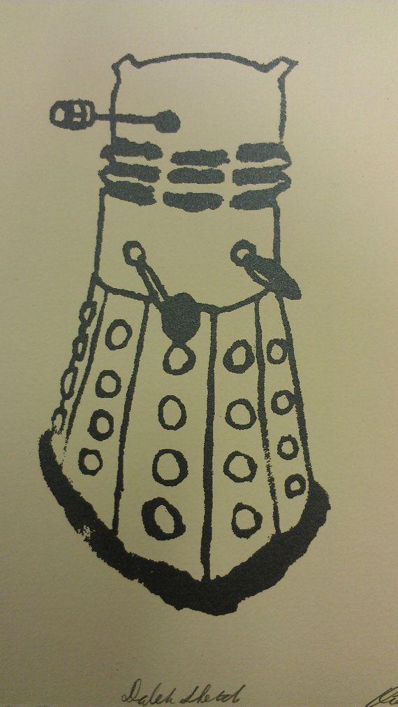 Doctor Who Dalek Print Dalek Sketch