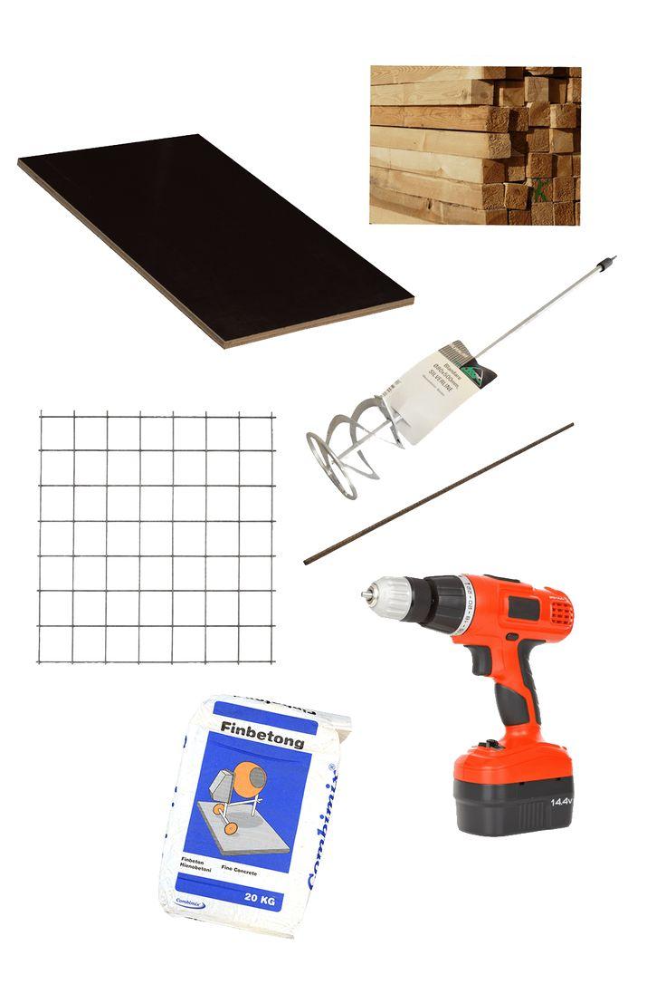 Material och verktyg till gjutning