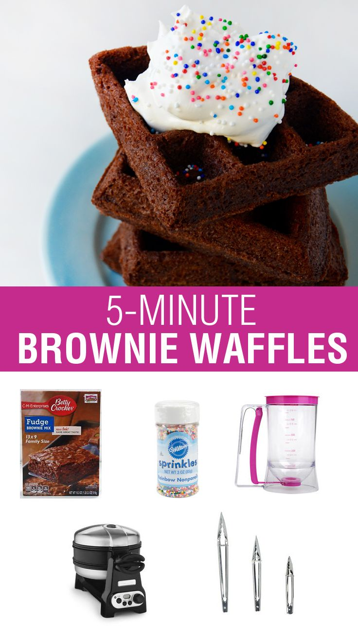Love brownies and waffles? Don't miss this recipe for 5-Minute Brownie Waffles via @justataste