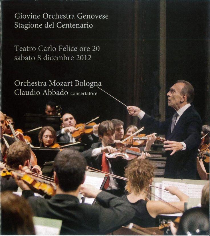 Stagione del centenario della GOG con il magnifico concerto di Claudio Abbado e dell'Orchestra Mozart Bologna, 8-12-12