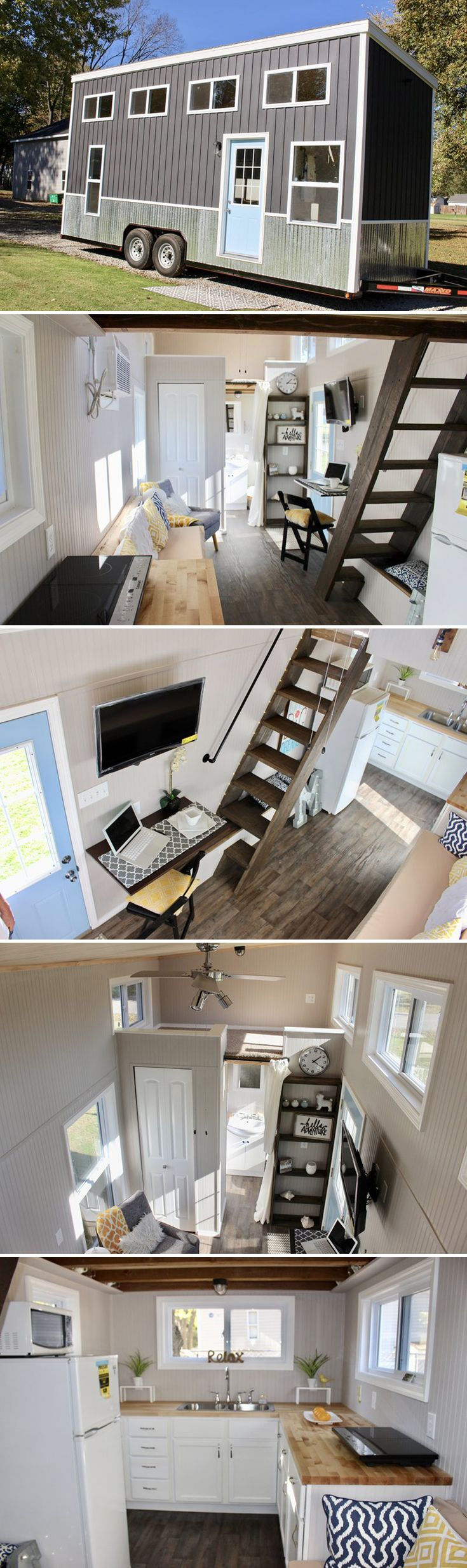 A 24' tiny house built by Mark and Emily Mitchel. After 30 years of construction experience, Mark is now putting his expertise to use building tiny houses.