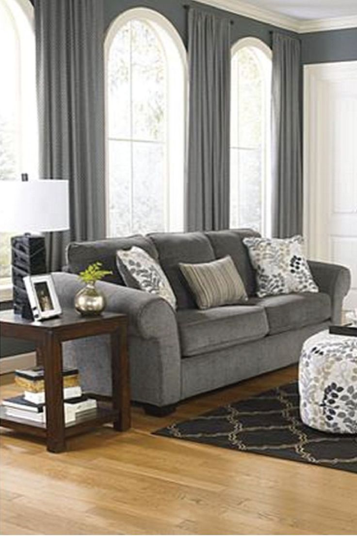 Accentuate Your Home With Soothing Tones And Sophisticated Design With This  Plush Gray Sofa. Ashley