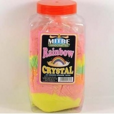 Rainbow Crystal sherbet - 2oz in a paper cone bag