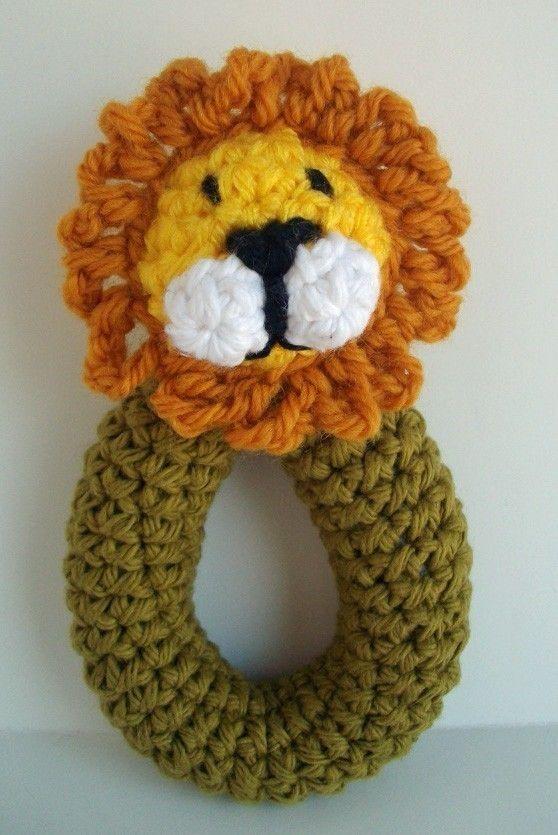 Crochet Lion Rattle Pattern. $3.00, via Etsy.