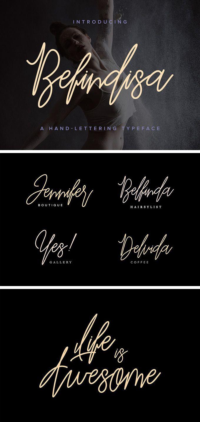 Befindisa Script Font - download freebie by PixelBuddha