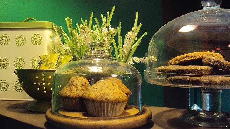Muffin integral de amapolas y galletón vegano de coco - jengibre ...