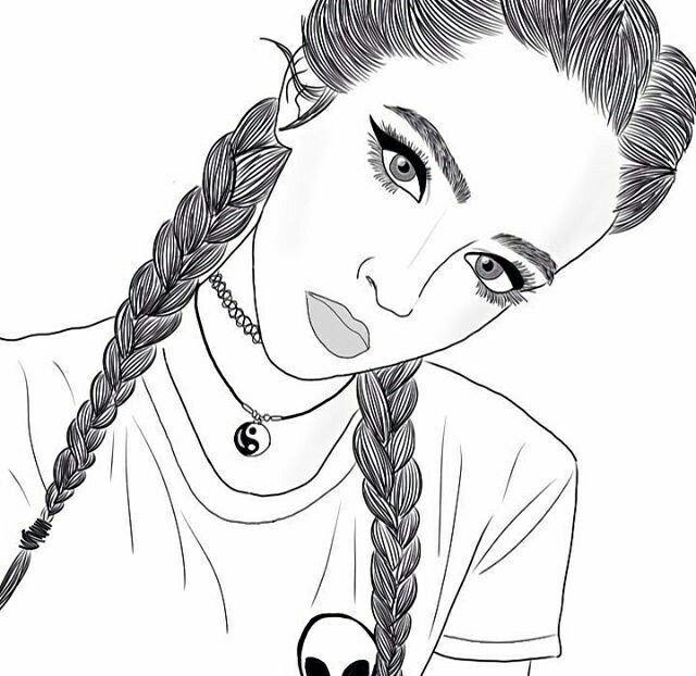 Прикольные картинки нарисовать карандашом для девочек