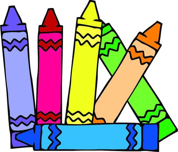 Colorful Crayons Drawing Design School Wall Decals For Classroom Decoration And Design Decals On Wal Clip Art Color Crayons Crayon Drawings