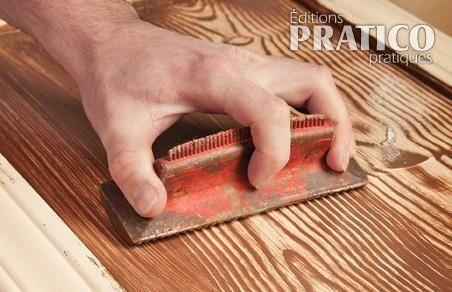 Réaliser un faux-fini bois sur une armoire de mélamine - Décoration - Pratico Pratiques