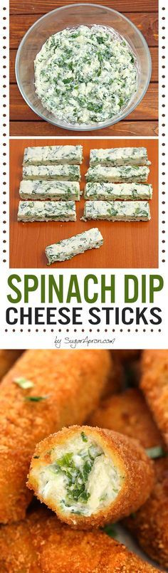 Easy Spinach Dip Cheese Sticks, a perfect party appetizer no matter the occasion.
