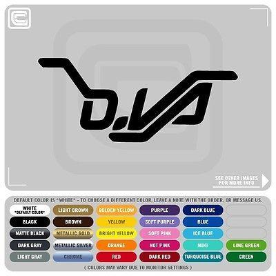 D. Va Name Logo Spray Decals Stickers, OVERWATCH XBOX PS4 HERO