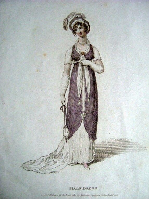 Regency fashion plate. Miroir de la Mode 1803.