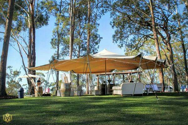 It's so easy to create a relaxed atmosphere with one of our sand coloured Stretch Tents!😏 #wedding #outdoor #stretched_events #eventhire #beautiful #eventstyling #marqueehire #stretchtent #marquee #eventhire #outdoorwedding #relax #party #forest #bush