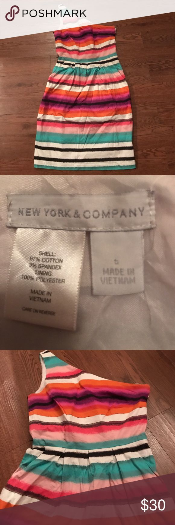 NY&CO one strap dress Gorgeous dress. Worn to a wedding once. New York & Company Dresses