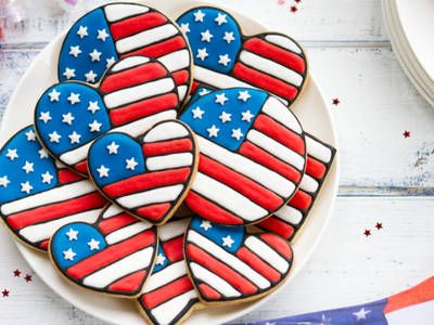 American Flag Frosted Sugar Cookies
