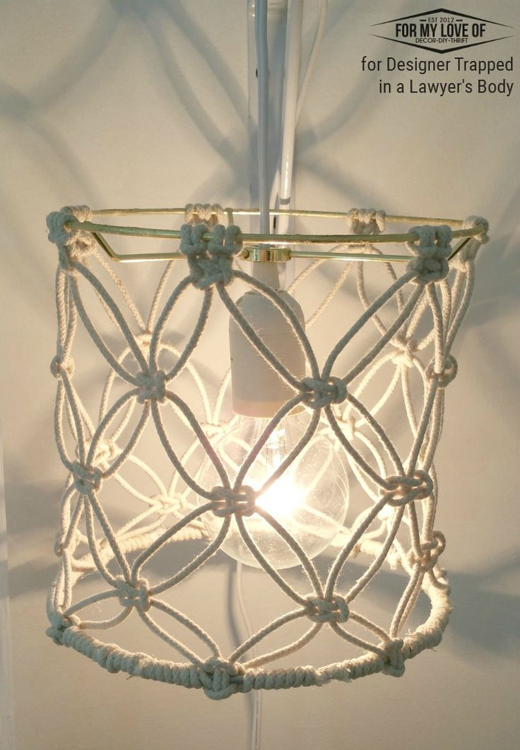 Diy Macrame Lamp Shade Tutorial Macrame Macrame