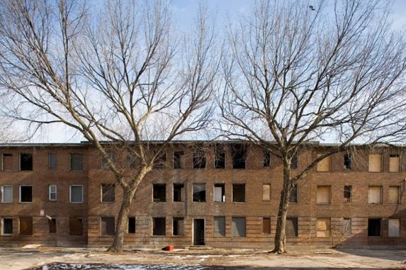 1. Chicago, Illinois (2007) – Since February 2000, the Chicago Housing Authority (CHA) has operated the Plan for Transformation, the largest public housing reform program in the United States. Among its reforms has been to make use of Federal HOPE VI dollars to demolish many of its large scale developments. Ida B. Wells Homes, seen here, was the city's first public housing development dedicated for African-American use. After more than 60 years of occupancy, it sat mostly vacant