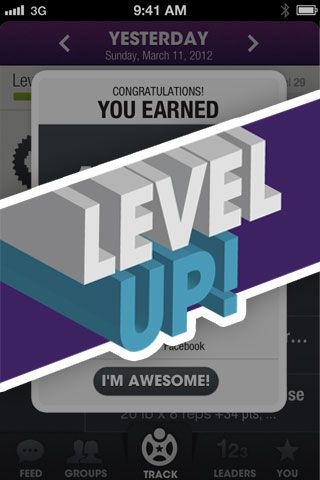 Fitocracy. Track your fitness by leveling up. Great motivation! Add me http://ftcy.me/EgDGeE