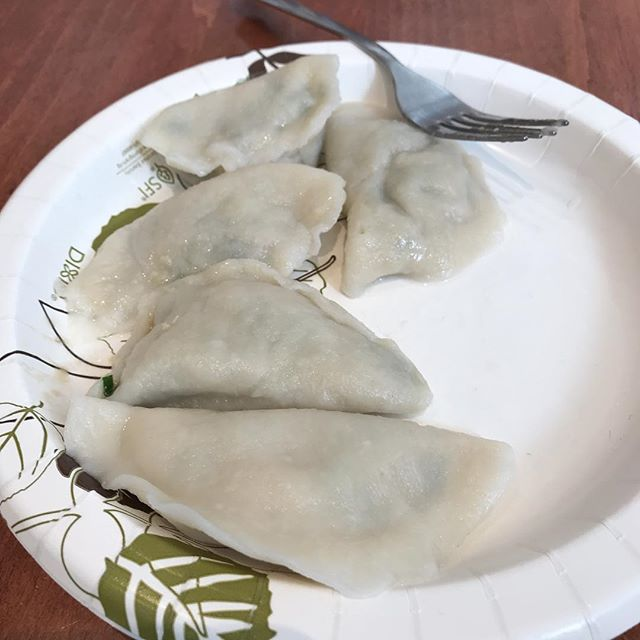 Homemade dumplings at Ashbury College. . . . . . #ottawa #food #foodie #chinesefood #dumplings #2018 #chinese #613 #yow #chineseculture