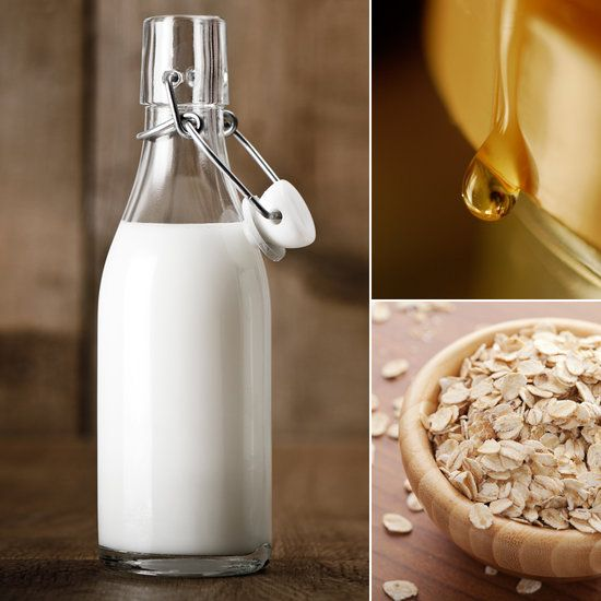 Homemade Sunburn Treatment- honey milk an oatmeal bath