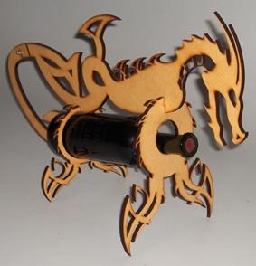 #lasercut dragon bottle holder