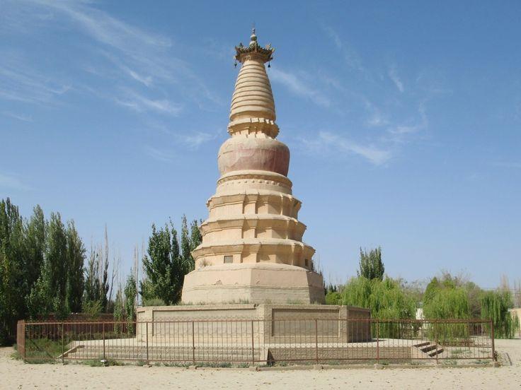 The nine-story White Horse Pagoda in Dunhuang, Gansu, China, was originally built in the 4th century to commemorate the trusty steed of Buddhist teacher Kumarajiva.