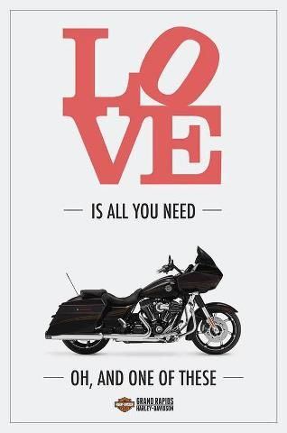 Love is all you need... and a motorcycle!