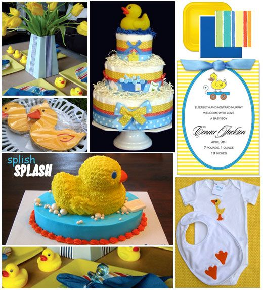Half Baked – The Cake Blog » Inspiration Board: Rubber Ducky Baby Shower