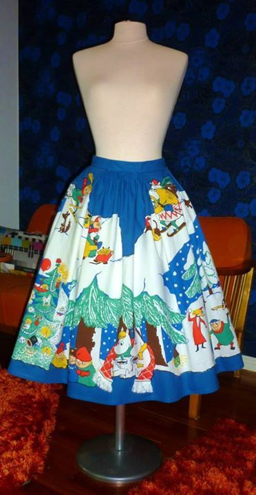 Amazing Moomin dress by Milona Koiranen, Finland.