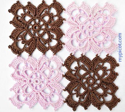 MyPicot | Free crochet patterns ╭⊰✿Teresa Restegui http://www.pinterest.com/teretegui/✿⊱╮