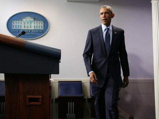 President Barack Obama approaches the podium for a statement regarding the Orlando mass shooting June 12, 2016 at the James Brady Press Briefing Room of the White House in Washington, DC.