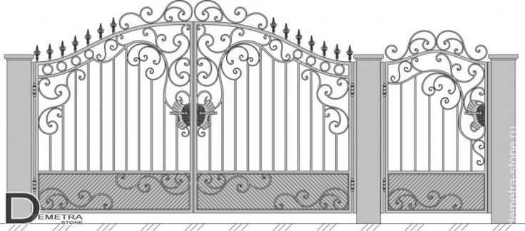 Кованые ворота В-021