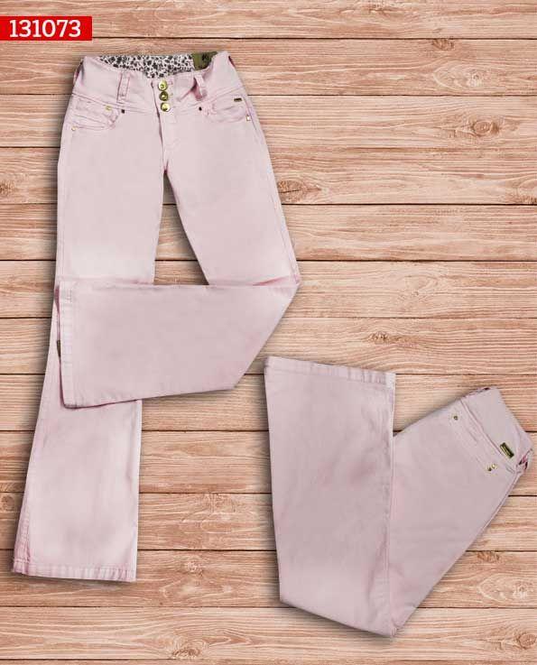 Pantalon-dama-color rosa claro -bota-ancha-ref-131073- #fashion #women #ropademoda