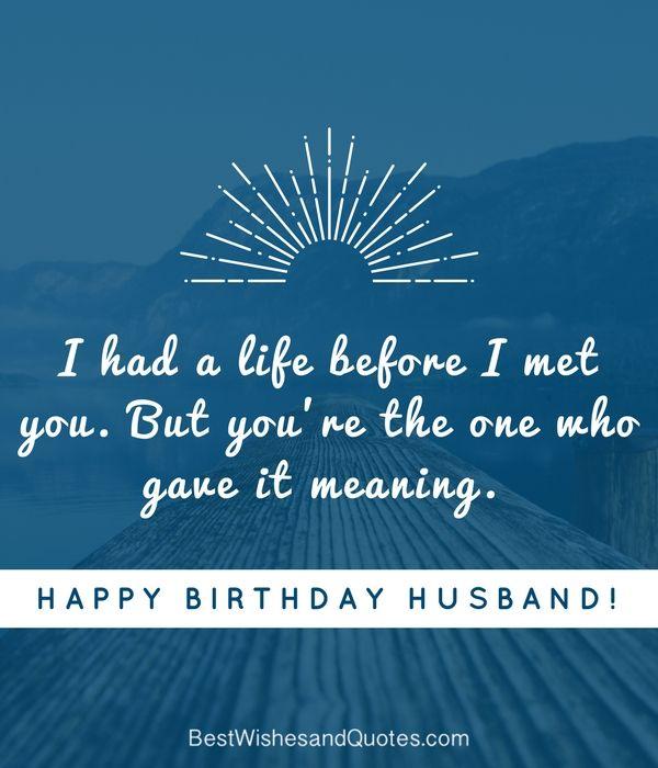 11 Best Happy Birthday Husband Images On Pinterest